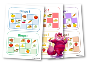 Cat and Mouse food bingo