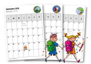 Calendrier eleve 2016-2017