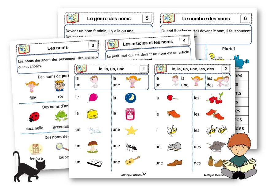 Les Lecons De Grammaire Le Blog De Chat Noir