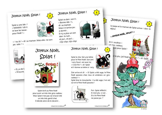 Joyeux no l splat le blog de chat noir - Chat a colorier maternelle ...