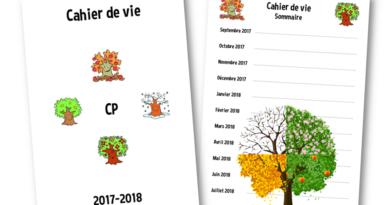 Le cahier de vie 2017-2018