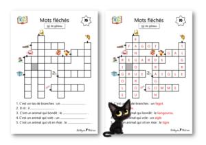 La dict e quotidienne le blog de chat noir - Mots croises grille quotidienne ...