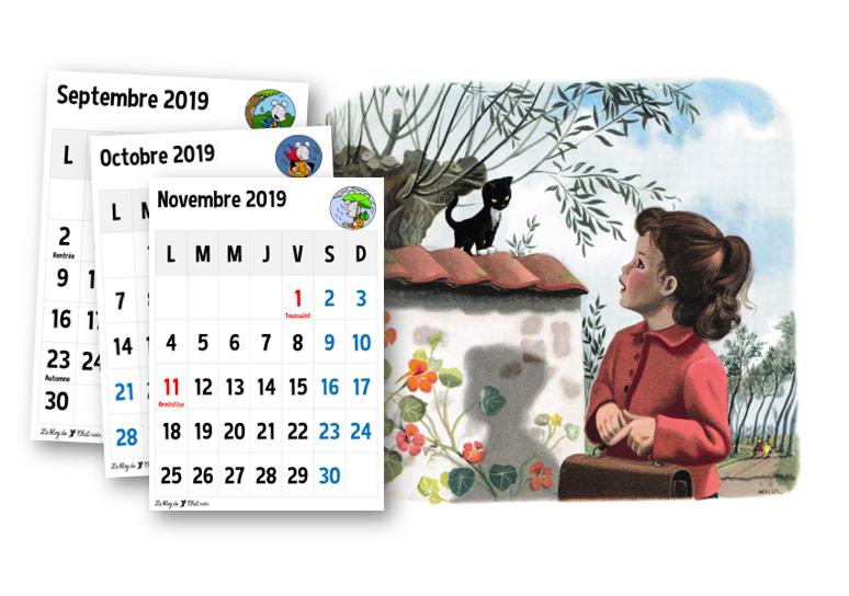 Calendrier Scolaire 20202019 A Imprimer.Calendrier 2019 2020 Le Blog De Chat Noir