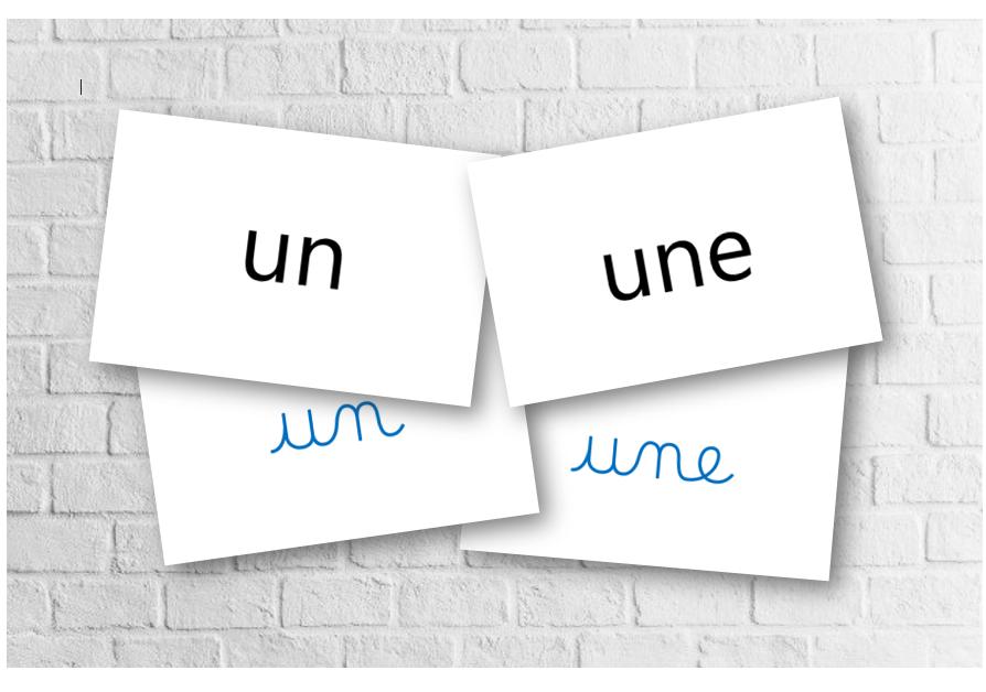 Les affiches des mots outils 2019
