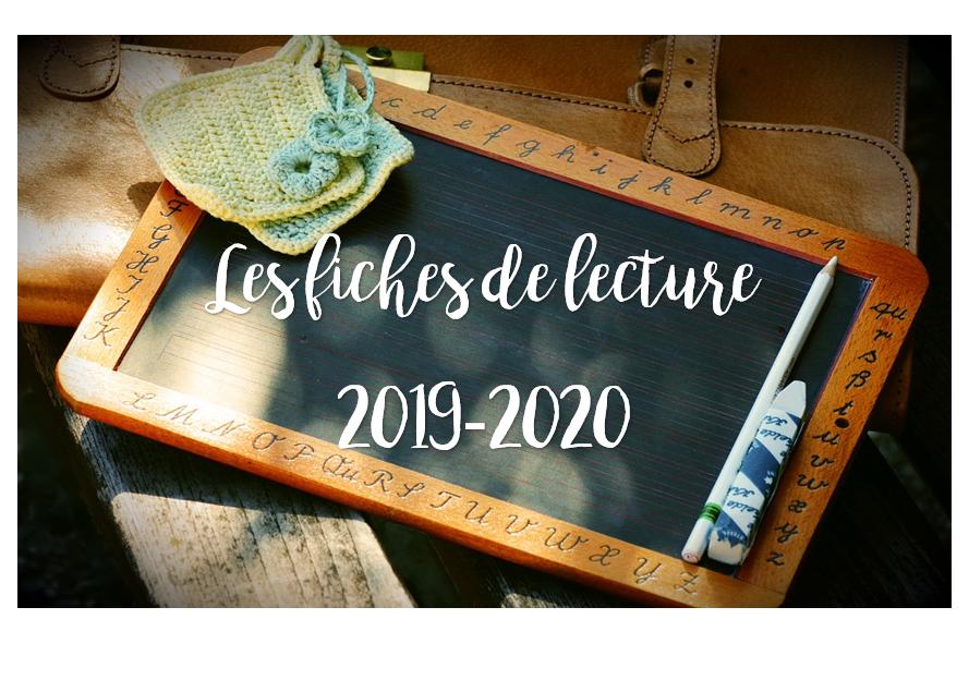 Les fiches de lecture Pilotis 2019 : palier 2