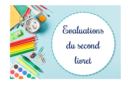 Evaluations du second livret 2019-2020