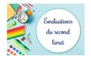 Evaluations du second livret 2019-2020