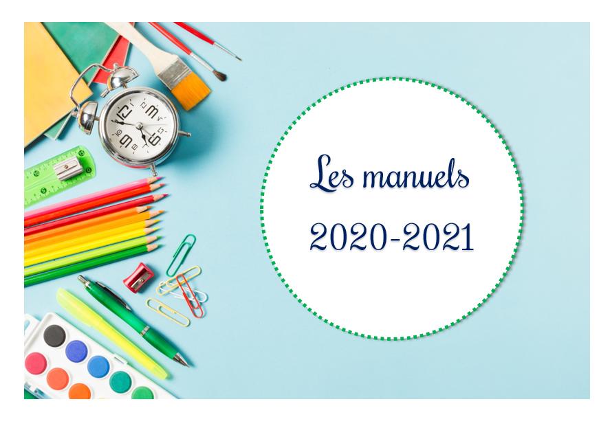 Les manuels et ressources 2020-2021