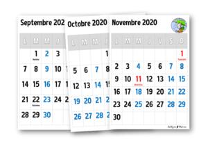 Calendriers 2020 2021 – Le blog de Chat noir